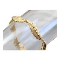 Vintage 18 Karat Gold Leaf Bracelet