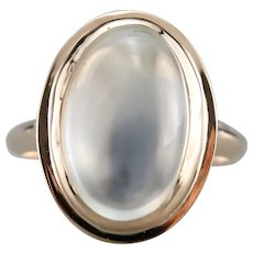 Upcycled Moonstone Statement Ring