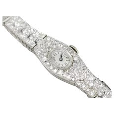 Vintage Ladies Glycine Diamond Wrist Watch