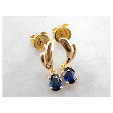 Sapphire High Karat Drop Earrings