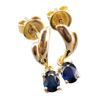 Sapphire High Karat Drop Earrings