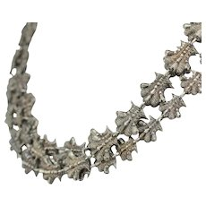 Ornate Vintage 800 Silver Chocker Necklace