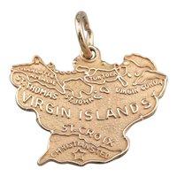 Virgin Island 14 Karat Gold Charm Pendant
