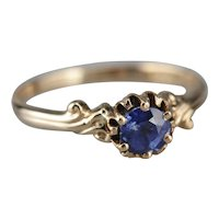 Sweet and Simple Sapphire Solitaire