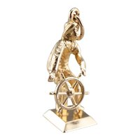 Vintage Moving Sailor at the Helm Charm