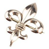 10K Fleur de Lis Watch Pin