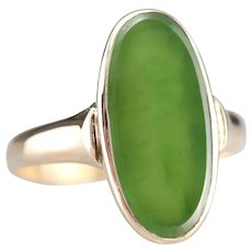 Upcycled Green Onyx Pinky Ring