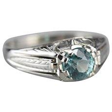 Men's Blue Zircon Solitaire Ring