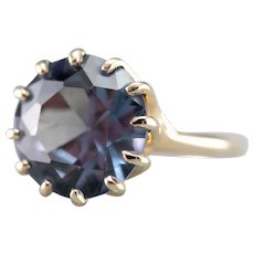 Mid Century Synthetic Alexandrite Ring