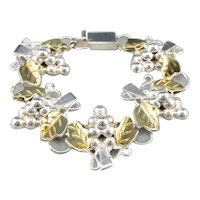 Bunch of Grapes Mixed Metal Link Bracelet