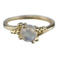 Retro Moonstone Solitaire Ring