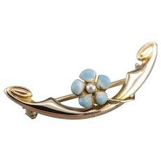 Art Nouveau Era Cultured Seed Pearl Pin