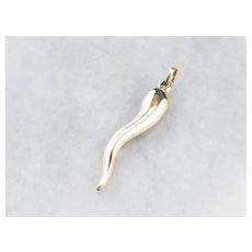 14K Italian Horn Cornicello Charm or Pendant