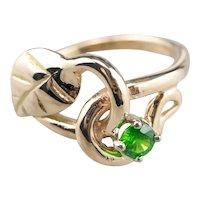 Botanical Tsavorite Garnet Ring