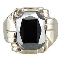 Men's Hematite Vintage Ring