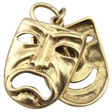 Vintage Comedy and Tragedy Mask Charm