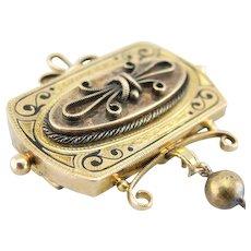 Antique Enamel Victorian Era Brooch