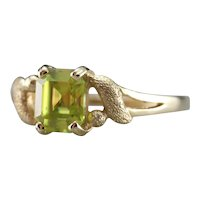 Upcycled Sphene Solitaire Ring