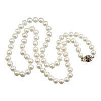 Cream Cultured Pearl Beaded Necklace