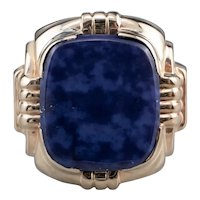 Vintage Men's Lapis Lazuli Ring