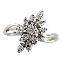 Lovely Diamond Bypass Ring