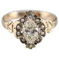 Upcycled Nouveau Diamond Dinner Ring