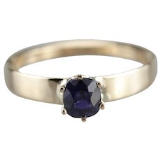 Classic Sapphire Solitaire Engagement Ring
