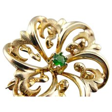 Kelly Green Doublet Knot Pin