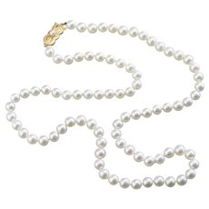 Vintage Cultured Pearl Beaded Necklace