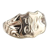 "Victorian Monogram 'JC"" Signet Ring"