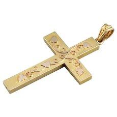 Gothic Ivy Cross Pendant