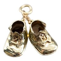 Pair of Baby Shoes and Chain Charm