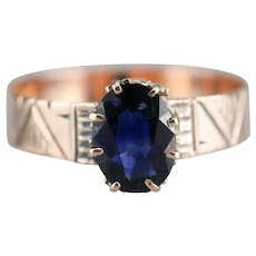 Lovely Ladies Sapphire Solitaire Ring