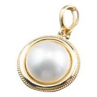 Pretty Mabe Pearl Solitaire Pendant