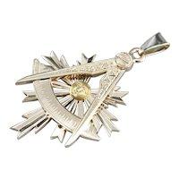 Large Antique Masonic Pendant