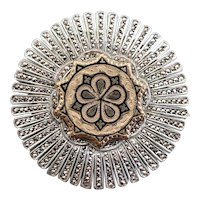 Upcycled Mixed Era Marcasite and Enamel Brooch