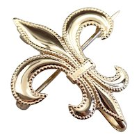 Vintage Fleur De Lis Brooch or Pendant