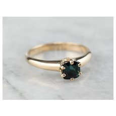 Lovely Antique Blue Tourmaline Ring