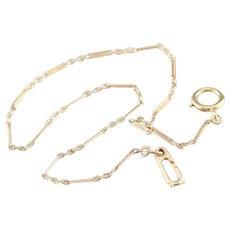 Vintage 14 Karat Gold Pocket Watch Chain