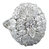 Stunning Marquise Diamond Cocktail Ring