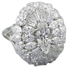 Stunning Marquise Diamond Cocktail Ring
