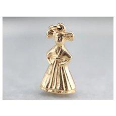 Vintage Little Girl Charm Pendant