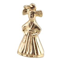 Vintage Little Girl Charm Pendant