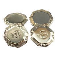 "Old English ""G"" Monogrammed Cufflinks"