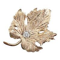Dreamy Diamond Grape Leaf Brooch