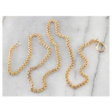 Antique Double Link 10 Karat Gold Chain