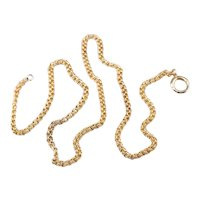 Antique Double Link 10 Karat Gold Chain