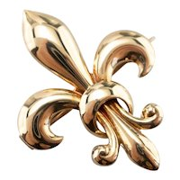 Classic Antique Fleur de Lis Watch Pin