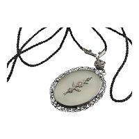 Art Deco Camphor Glass Necklace