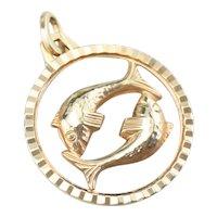 Pisces Symbol Medal Pendant